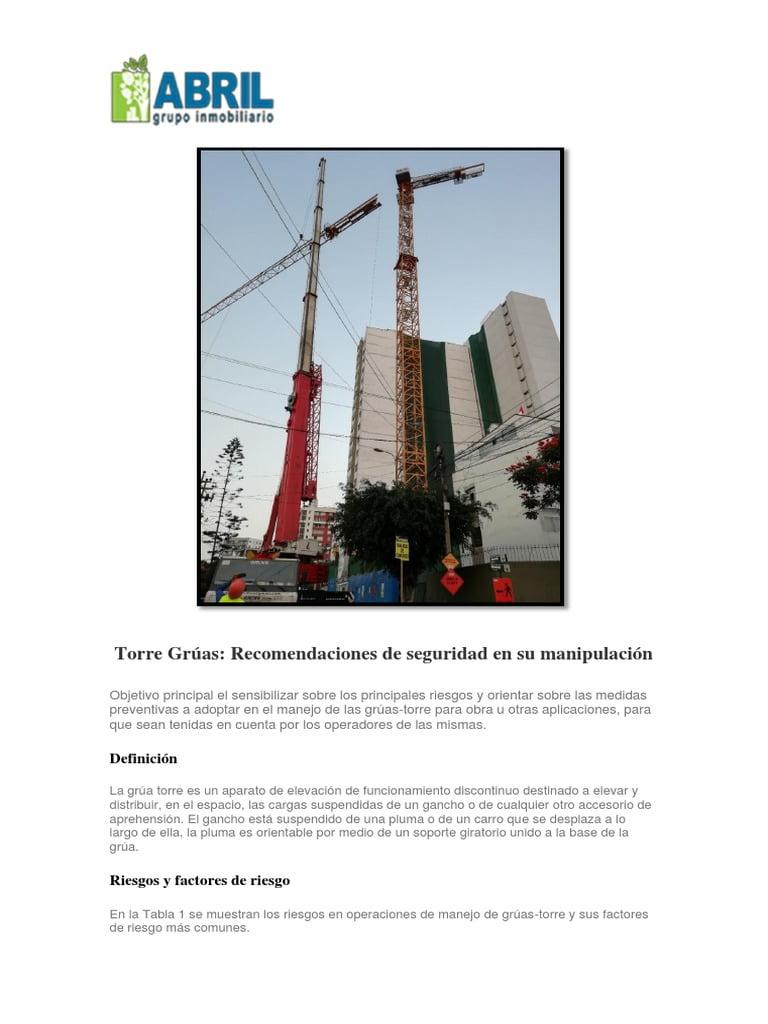 Proyecto Instalación Grúa Torre